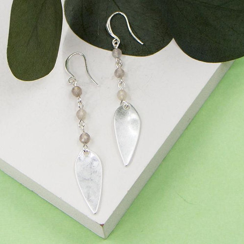 Elongated Oval Shaped Charm Earrings