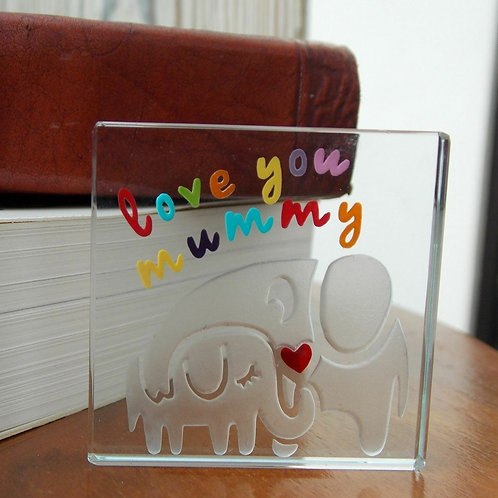 Spaceform Miniature Glass Token | Love You Mummythday