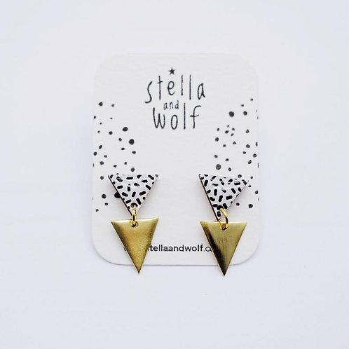 S&W Geometric Dangle Earrings
