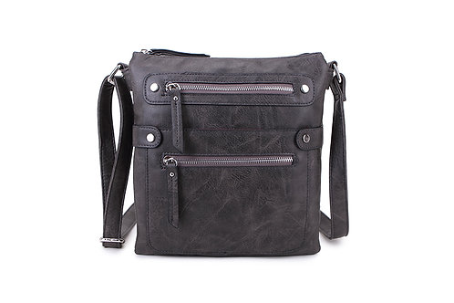 Shoulder / Crossbody Bag, Zip - Dark Grey