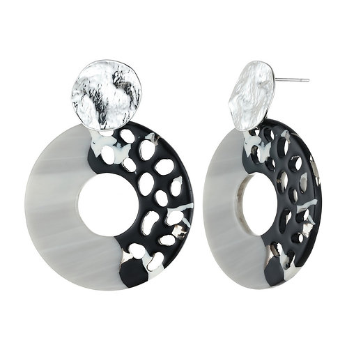 Open Circle Acrylic Drop Earrings