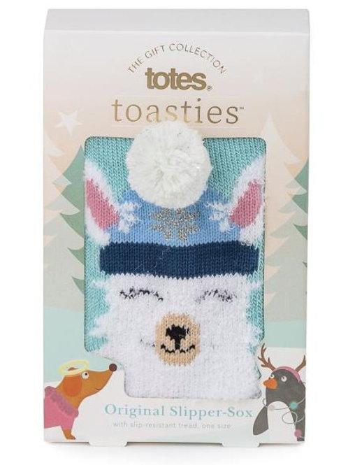 Totes Toasties Ladies Single Slipper Sox - Llama