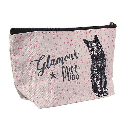 'Glamour Puss' Cat Toiletry Bag