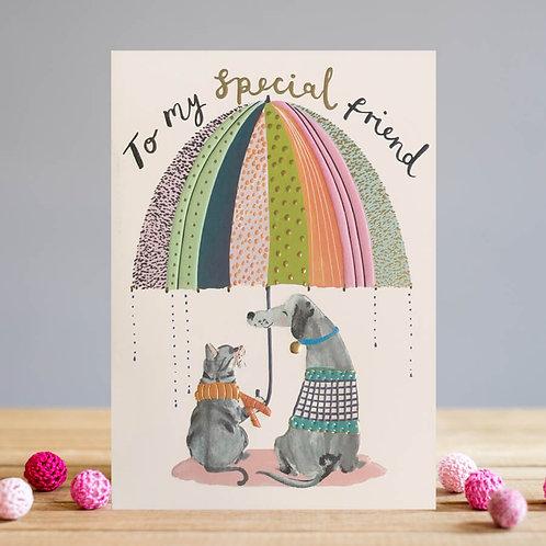 Cat & Dog Friends Card