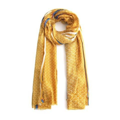 Abstract Triangle Mustard Scarf