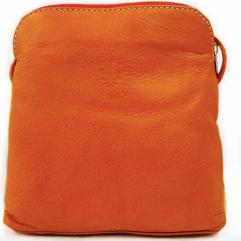 Leather Slim Crossbody Bag   Orange
