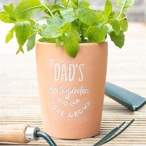 Dad's Garden Terracotta Plant Pot