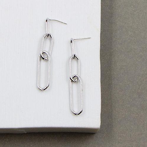 Triple Link Dangle Earrings