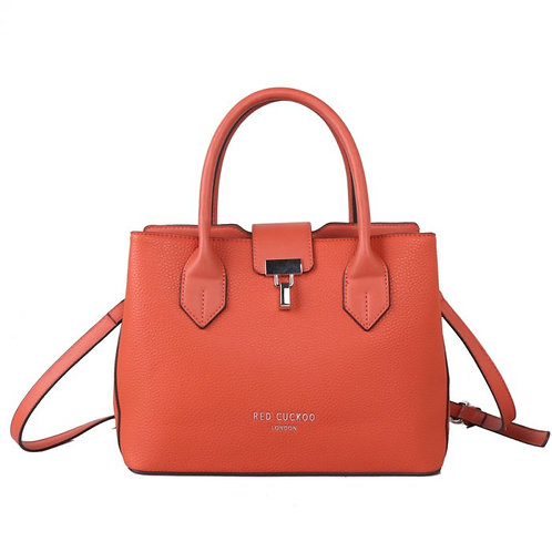 Red Cuckoo Orange Front Fastening Clasp Tote Bag