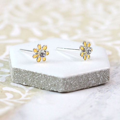 Sterling Silver Tiny Flower Studs