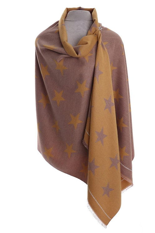 Reversible Star Wrap Scarf