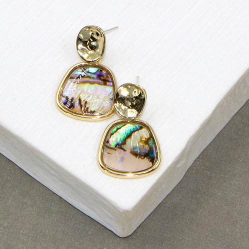 Paua Shell Inlay Drop Earrings