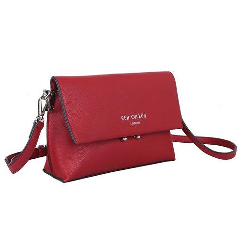 Red Cuckoo Red Shoulder Bag