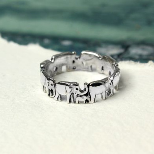 Sterling Silver Mother & Baby Elephant