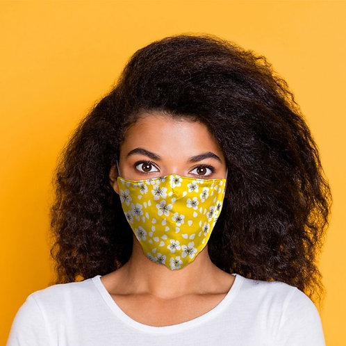 Yellow Floral Washable Face Mask