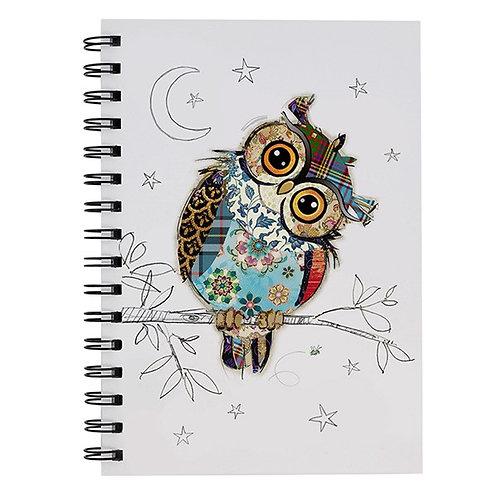 Kooks Owen A6 Owl Notebook