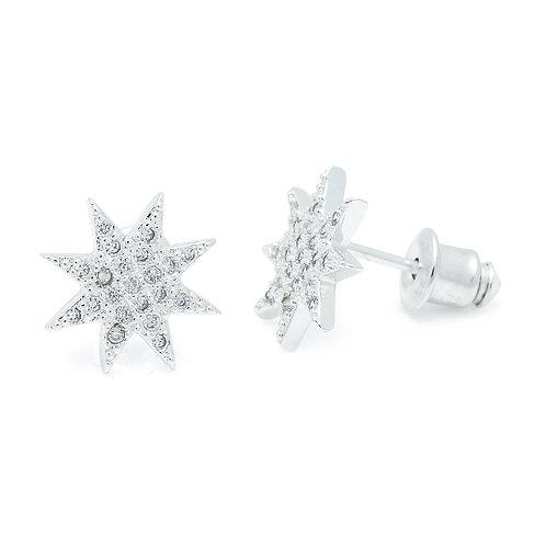 Cubic Zirconia Starburst Earrings