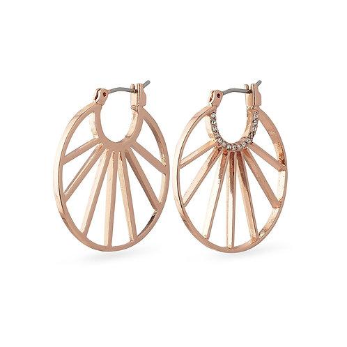 PILGRIM: Cassie Hoop Earrings Rose Gold