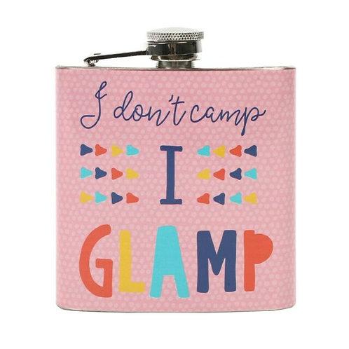 Pink Glamping Hip Flask