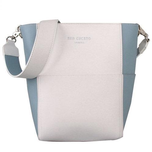 Red Cuckoo White & Blue Shoulder Bag