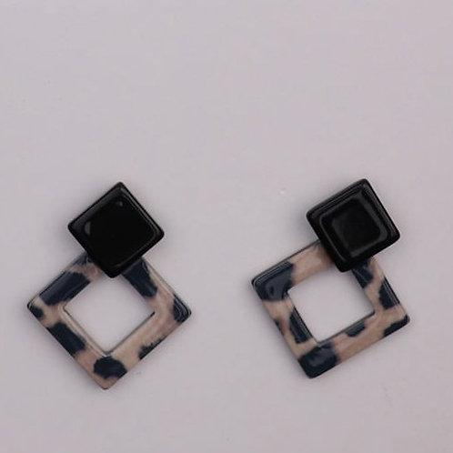 Diamond Drop Resin Earrings