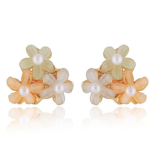 Trio Bouquet Stud Earrings