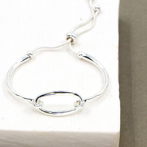 Bangle Style Oval Bracelet
