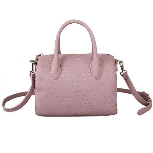 Red Cuckoo Pink Stitch Detail Grab Bag