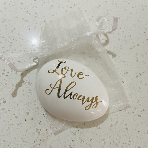 Ceramic Love Pebble | Love Always