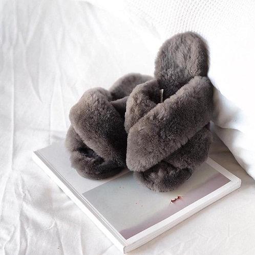 Mayberry Slipper | Charcoal | Emu Australia