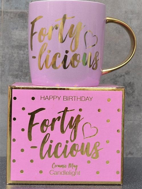 Forty-Licious Ceramic Mug
