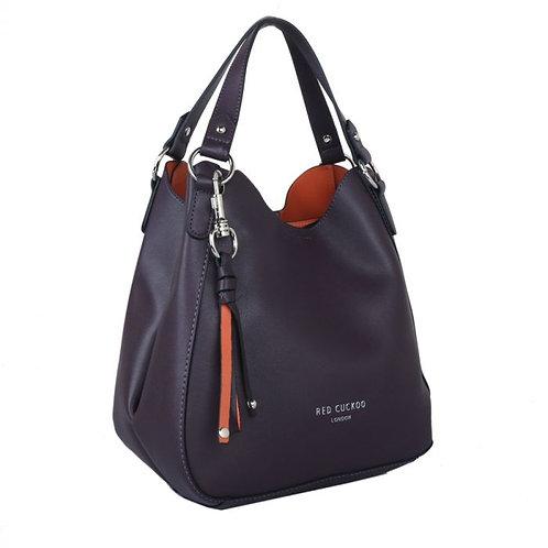 Purple Key Chain Tassel Shoulder Bag