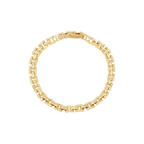 Chain Link Square Bracelet - Gold
