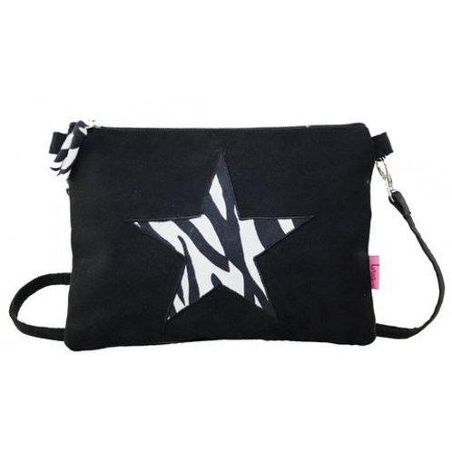 Mini Zebra Star Crossbody Bag