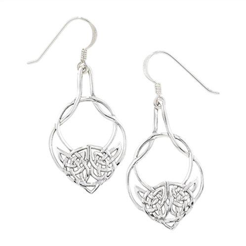 Sterling Silver Celtic Style Earrings