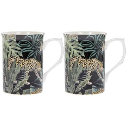 Jungle Fever Set Of 2 Mugs
