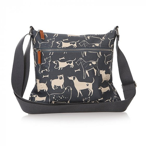 Cross Body Bag - Oilcloth Dog (29cm)