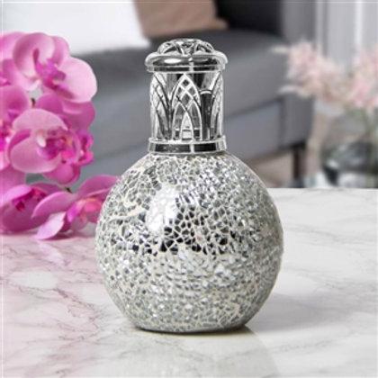 Glass Mosaic Fragrance Lamp | Silver