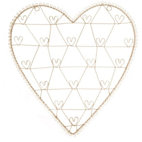 Vintage Wire Heart Photo Frame