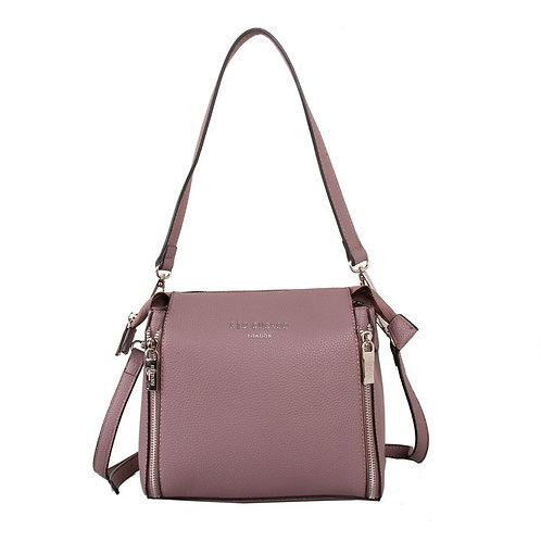 Red Cuckoo Dusky Purple Shoulder Bag