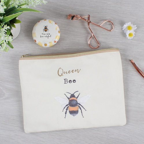 Queen Bee Make Up Pouch