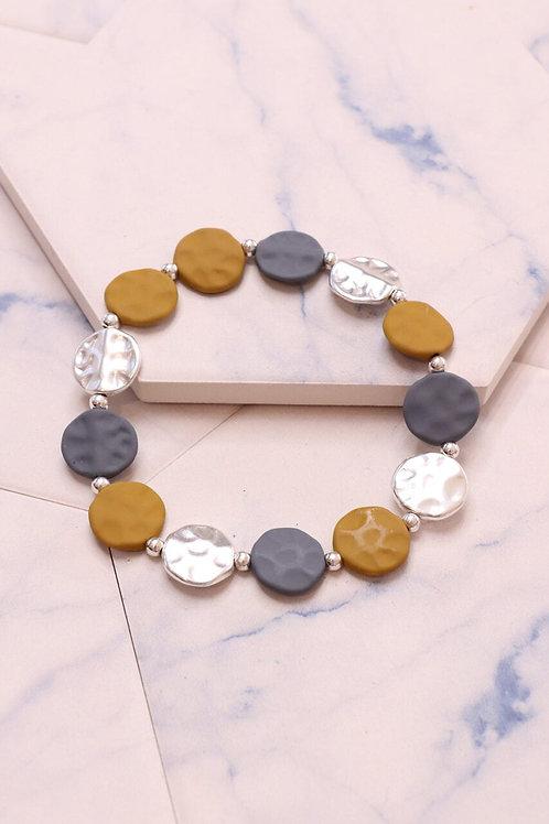 Multi Circle Colour Bracelet | Mustard