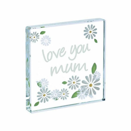 Spaceform Miniature Glass Token | Love You Mum