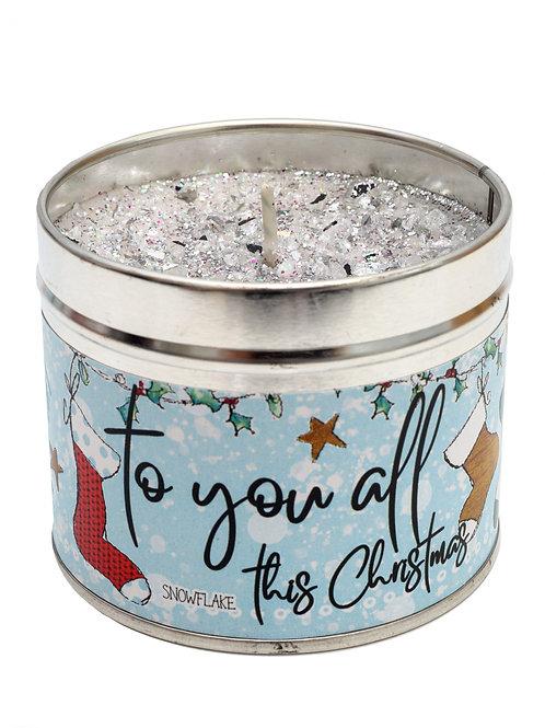 To You All Christmas Candle