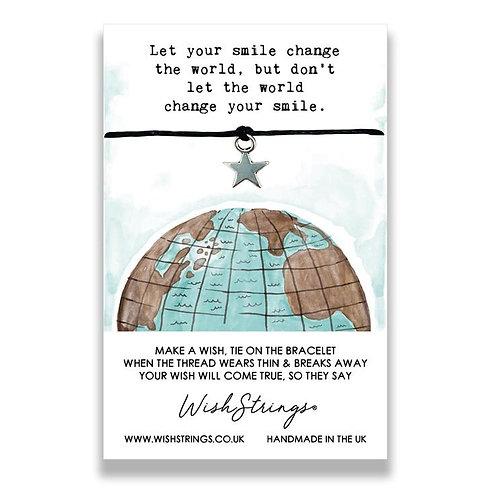 World Smile Wish String Bracelet