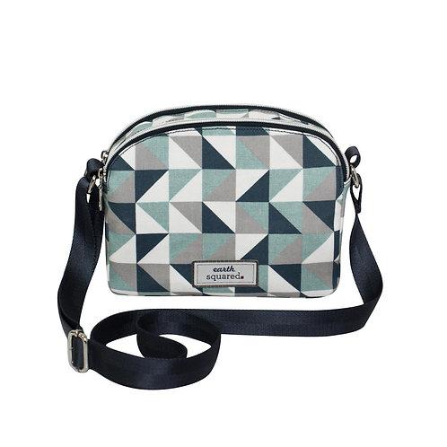 Oil Cloth Half Moon Triangle Print Bag
