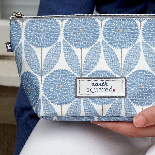 Oil Cloth Make Up Bag | Blue Cornflower