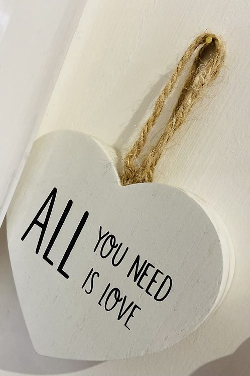 Wooden Heart Decoration | All You Need Is Love
