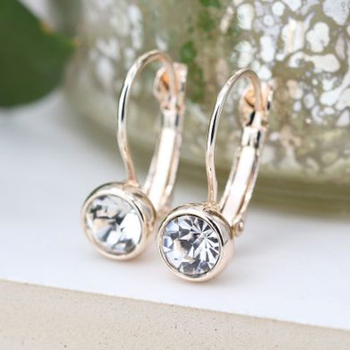 Rose Gold Hinged Drop Earrings