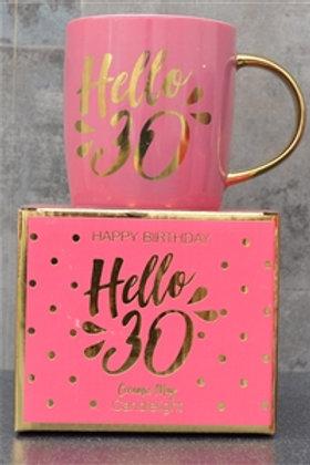 Hello 30 Ceramic Mug